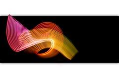 Färgrik neon spirala linjer vektor illustrationer
