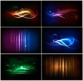färgrik neonset för abstrakt bakgrunder Arkivfoto