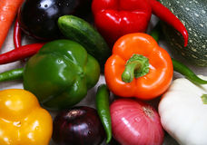 färgrik ny grönsak royaltyfri foto