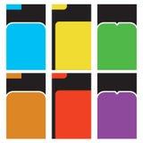 Färgrik och modern mall för textask Arkivfoto