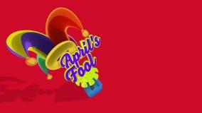 Färgrik och rolig ask för dumbom för april ` s lager videofilmer