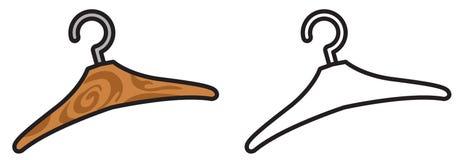 Färgrik och svartvit hängare för färgläggningbok stock illustrationer