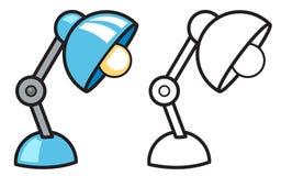 Färgrik och svartvit lampa för färgläggningbok stock illustrationer