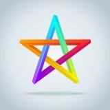 Färgrik ofattbar Pentagram. royaltyfri illustrationer