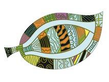 färgrik olik leafmodell royaltyfri illustrationer