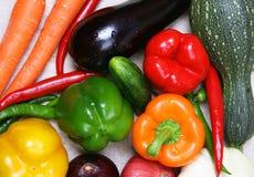 färgrik olik ny grönsak royaltyfri bild