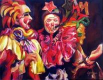 Färgrik olja Buenos Aires Argentina för akryl för original- konstverk för karnevalmaskeringar stock illustrationer