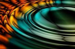 färgrik olja ripples oljefläck Arkivbilder