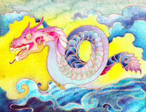 Färgrik orientalisk drake Royaltyfria Bilder