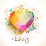 Färgrik origamihjärta för valentin dag Arkivbild