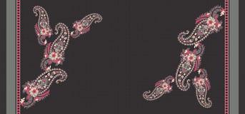 F?rgrik paisley f?r s?ml?s tappning bakgrund stock illustrationer