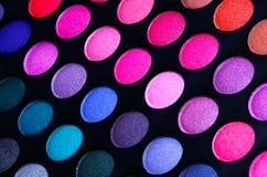 Färgrik palett för ögonskuggor Royaltyfria Bilder