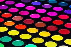 Färgrik palett för ögonskuggor Arkivbild