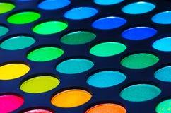 Färgrik palett för ögonskuggor Arkivfoto