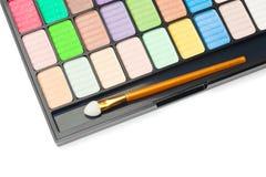 Färgrik palett för makeup Royaltyfri Fotografi
