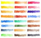 Färgrik palettbakgrund för vattenfärg Royaltyfria Bilder