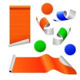 färgrik paper etikett Arkivbilder
