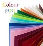 färgrik paper regnbåge Royaltyfri Bild