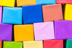 Färgrik pappers- bakgrund för abstrakt regnbåge Arkivbilder