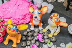 Färgrik pappers- hundkapplöpning Fotografering för Bildbyråer