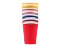 Färgrik pappers- kaffekopp. Royaltyfri Bild