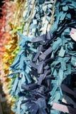 Färgrik pappers- vikning som ett önskande papper i japansk kultur royaltyfria foton