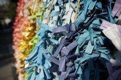 Färgrik pappers- vikning som ett önskande papper i japansk kultur arkivfoton