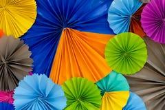 Färgrik pappersabstrakt begreppbakgrund Royaltyfria Bilder