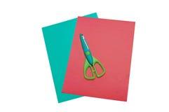 färgrik papperssax arkivbild