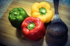 Färgrik paprika Fotografering för Bildbyråer