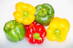 Färgrik paprika på den ljusa bakgrunden Arkivbilder