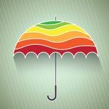 Färgrik paraplyvektorillustration Arkivfoto