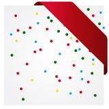 Färgrik partibakgrund med konfettier Arkivbild