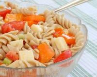 färgrik pastasallad Fotografering för Bildbyråer
