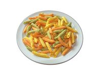 färgrik pastatrio Fotografering för Bildbyråer