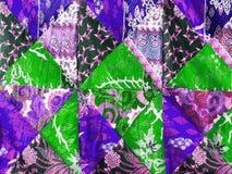 Färgrik patchworkfilt Royaltyfria Bilder
