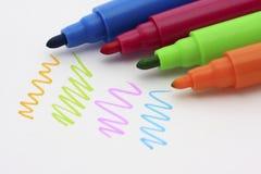 Färgrik penna Royaltyfria Foton