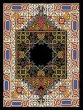 färgrik persisk filt Arkivbild
