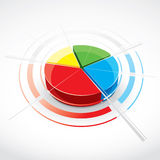 färgrik pie för diagram vektor illustrationer
