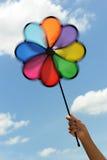 färgrik pinwheel Arkivbild