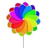 färgrik pinwheel Royaltyfri Fotografi