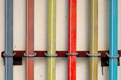 färgrik pipeline Arkivfoton