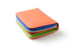 Färgrik plånbok Fotografering för Bildbyråer