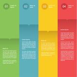 Färgrik plan designmall för vektor. Fyra val. Royaltyfri Illustrationer