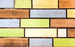 Färgrik planka Arkivfoto