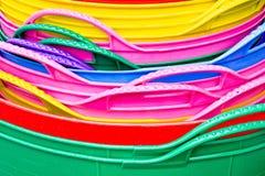 färgrik plast- Royaltyfri Fotografi