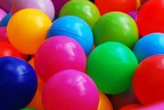 Färgrik plast- boll Arkivfoto