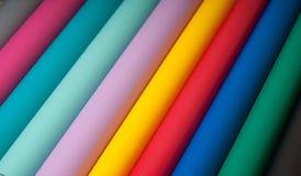 Färgrik plast- film Arkivbilder