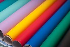 Färgrik plast- film Arkivfoton