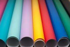 Färgrik plast- film Fotografering för Bildbyråer